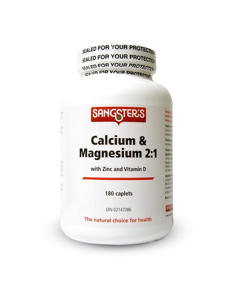 SANGSTER'S CALCIUM AND MAGNESIUM WITH ZINC AND VITAMIN D 2:1- CAPLETS