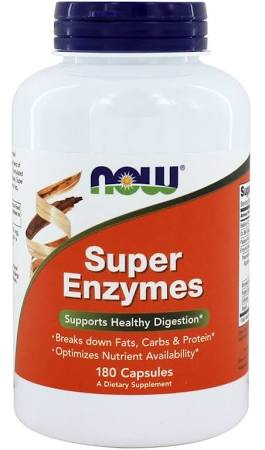 NOW Foods - Super Enzymes - 180 Capsules