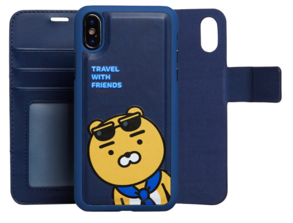 *LATEST Kakao friends cellphone case (for various phone models) and card holder - Apeach, Ryan and Neo
