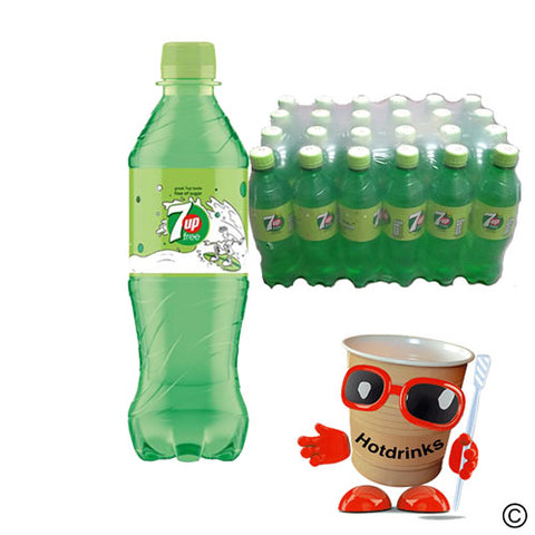 24 x 500ml 7 Up Sugar Free Drink bottles - COLLECTION ONLY