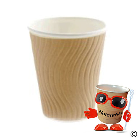 8oz 'Natural' Paper Cups (37 per sleeve or Box of 925)