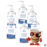 Foot operated hand sanitiser refill bottles, 6 x 500ml