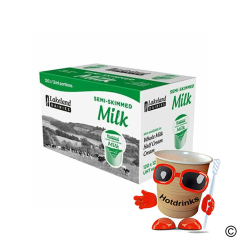 Lakeland Half Fat Semi-skimmed Long Life Milk Pots (120)