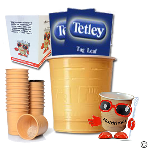 Tetley 'Tagged' White & Sugar (25 or 300)