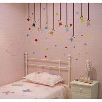 Dancing stars and bears wall sticker - Kids Room Deco