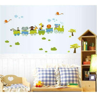 The train with animals wall sticker