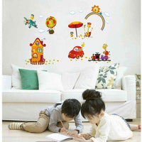 Giraffe traveling wall sticker