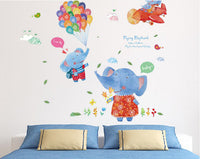 Wall sticker-flying elephant wall stickers
