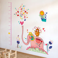 Wall sticker-Pink elephant growth chart wall sticker