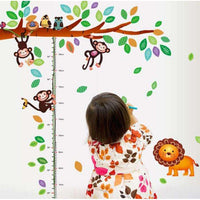 The branch with monkeys wall sticker