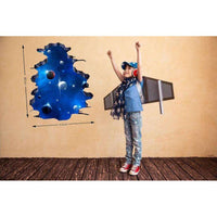 3D hole in the space wall sticker - Kids Room Deco