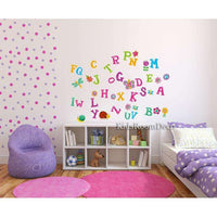 Colorful Alfabet wall sticker - Kids Room Deco