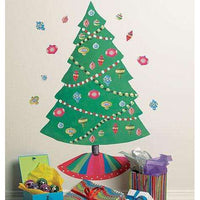 Christmas Tree Vinyl Mural - Kids Room Deco
