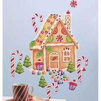 Gingerbread House Vinyl Mural
