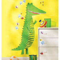 Crocodile Growth Chart Vinyl Mural - Kids Room Deco