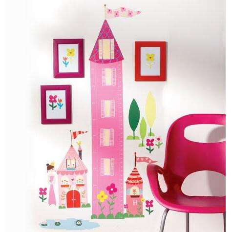 Buy Princess Growth Chart Vinyl Mural At Kids Room Deco For Only 3400