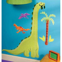 Dino Growth Chart Vinyl Mural - Kids Room Deco