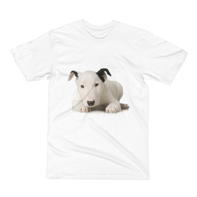 Men's Short Sleeve T-Shirt Bull Terrier Puppy