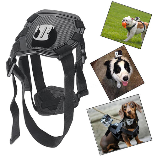 1pc Adjustable Hound Dog Fetch Harness Chest Strap Belt Mount For Gopro