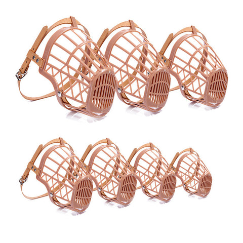 7 Sizes Strong Plastic Dogs Muzzle Anti-Biting Basket