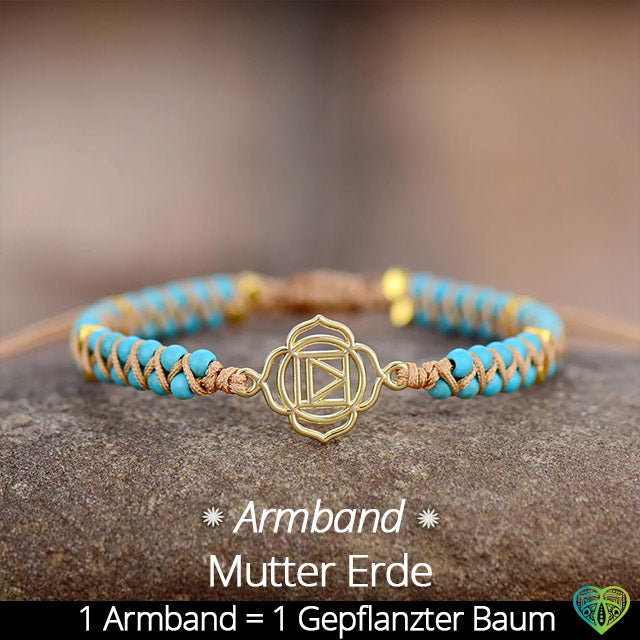Mutter Erde Armband - Turquoise (Baumpflanzenaktion)