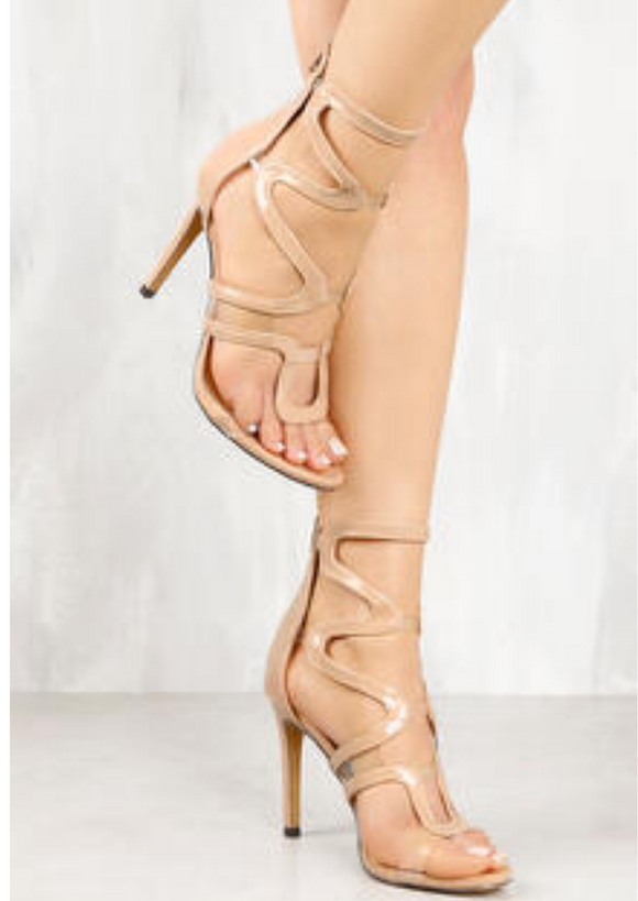 Nude Patten Leather Heels