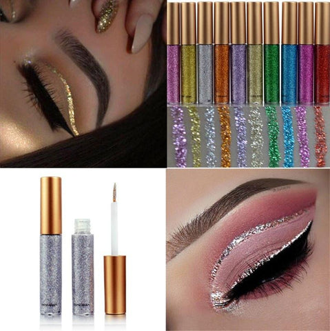 10 Colors Waterproof Shimmer Metallic Liquid Glitters Makeup Eyeliner Liquid Eyeshadow