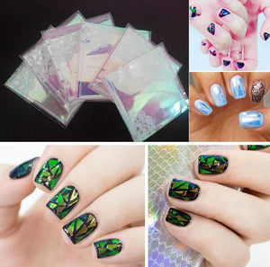 Eye-Catching Glass Nail Sticker