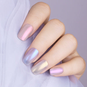 Sundaypop™  6ml Translucent Shell Shimmer Nail Polish Glitter Chameleon Nail Varnish Holographic Polish Purple Blue Nails
