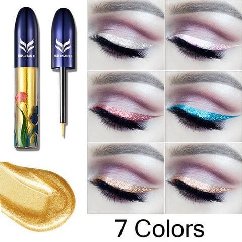 Fashion 7 Colors Pearl Color Eyeliner Eyes Make Up Liquid Eye Liner Pen Long Lasting Waterproof Colorful Liquid Eyeliner Makeup