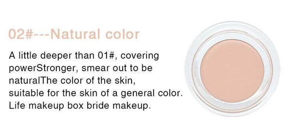 Sundaypop™  Pro Full Coverage Cream Concealing Foundation Flawless Concealer Makeup Silky Smooth Texture (4 Colors)