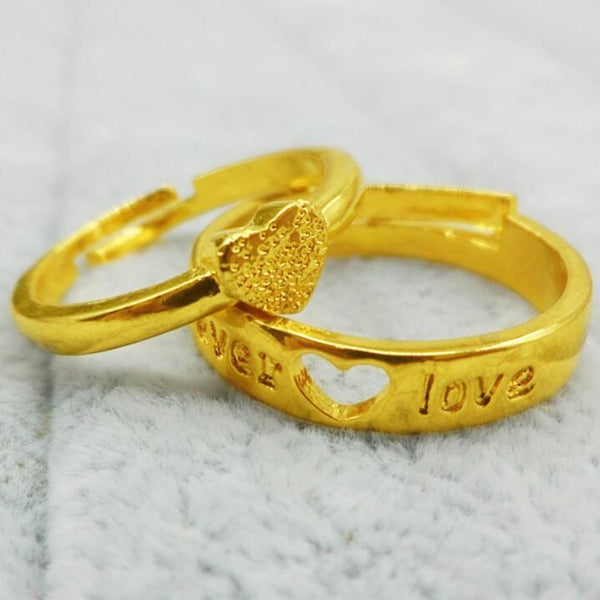 Adjustable LOVE Heart-shaped Couple Rings