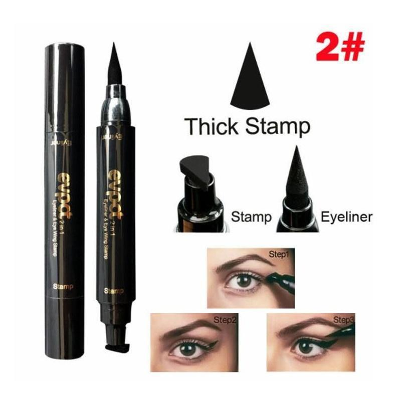 Sundaypop™  1 Pcs Charming Cat Eye Winged Eyeliner Sexy Eye Cosmetic Seal Stamp Wing Double Head Waterproof Eyeliner Pen Tool
