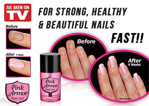 Pink Armor Nail Gel ,AS SEEN ON TV