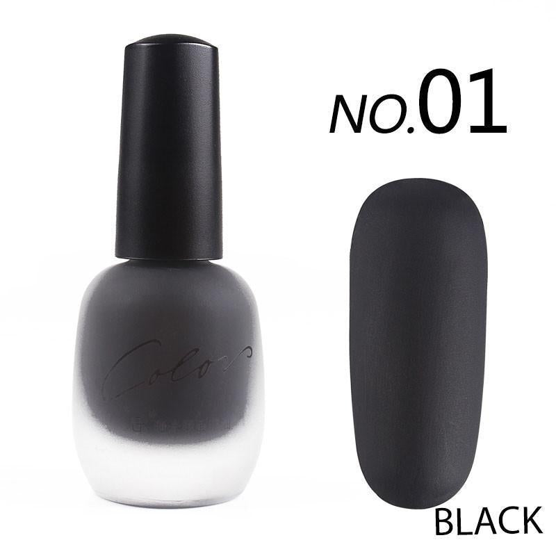 SATIN FROSTED QUICK DRY MATTE LONG LASTING NAIL POLISH Chocolate ...