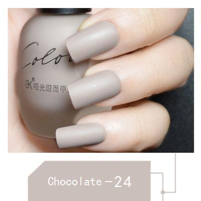 SATIN FROSTED QUICK DRY MATTE LONG LASTING NAIL POLISH Chocolate