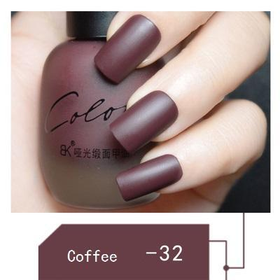 Sundaypop™ SATIN FROSTED QUICK DRY MATTE LONG LASTING NAIL POLISH Chocolate