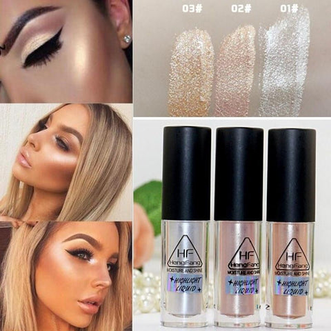 1 Piece Sexy Make Up Gold Highlighter Liquid Face Eye Contour Brightener Glow Shimmer