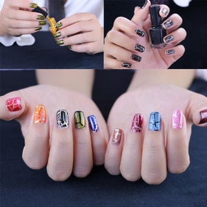 Cracked Nail Polish 3 Pcs/Set Background Oil+ Cracked Oil+ Seal Layer Oil
