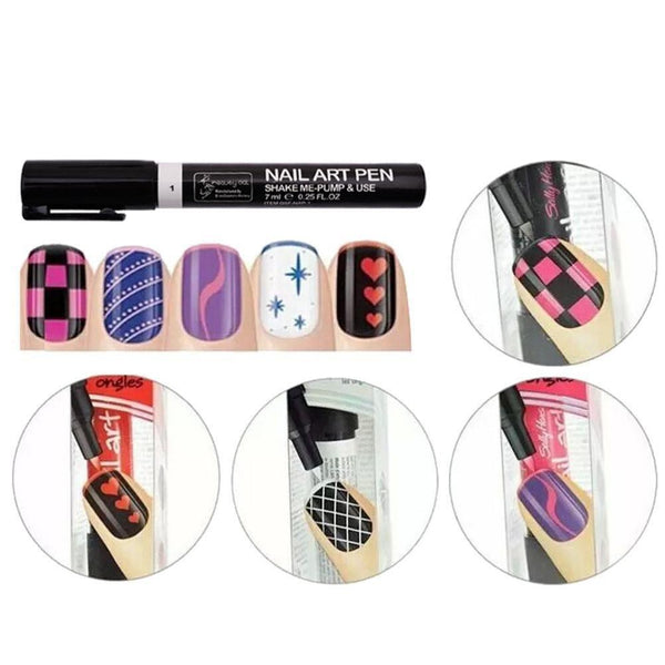 Sundaypop™ Nail Art Pen Painting Design Tools Kit Set Drawing Dotting for Gel Polish