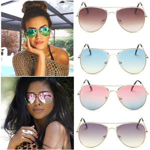 Fashion Outdoor UV400 Protection Unisex Sunglasses Aviator Metal Eyewear Glasses Women Men Bat Mirror Pilot Cool Polarized Sunglasses Shopping Summer Holiday Beach Driving Eyewear Accessories