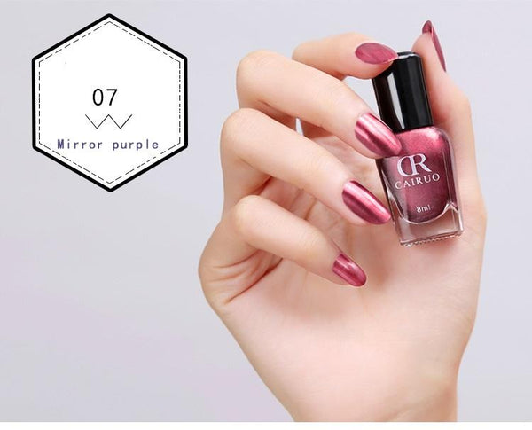 8 ml Fashion Sexy New Metallics Nail Polish Mirror Nail Polish For Women Girl