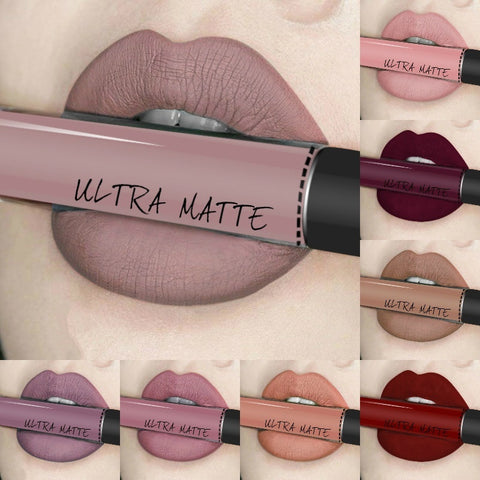 Sundaypop™ Sexy 12 Colors Long Lasting Waterproof Ultra Matte Liquid Lipstick Moisturizer Beauty Makeup