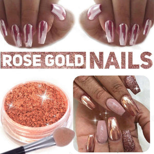 Sundaypop™  Sexy Rose Gold Nail Mirror Powder Nail Glitter Chrome Powder Nail Art Decoration