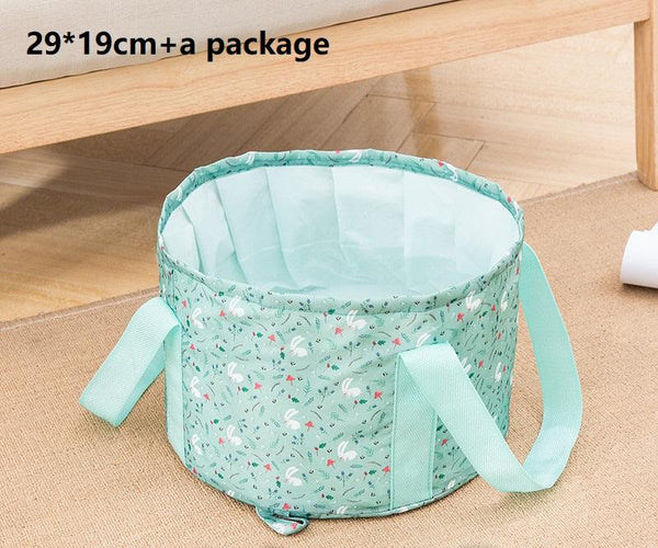 Portable Folding Basin for Face Wash,Hand Bath,Foot Bath Tub Large Foot Basin with a Package