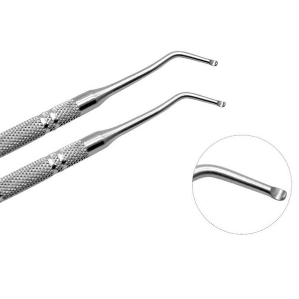 Sundaypop™  2Pcs/Set Ingrown Toe Nail Correction Nippers Clipper Cutters Dead Skin Dirt Remover + Paronychia Pod