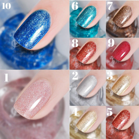 5 ml Water-based Nude Color Nail Polish can be Stripped and Tasteless Tearing Sequins Nail Polish