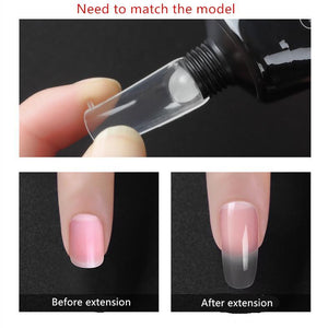 Quickly extend the crystal model glue phototherapy nails (free paper tray)