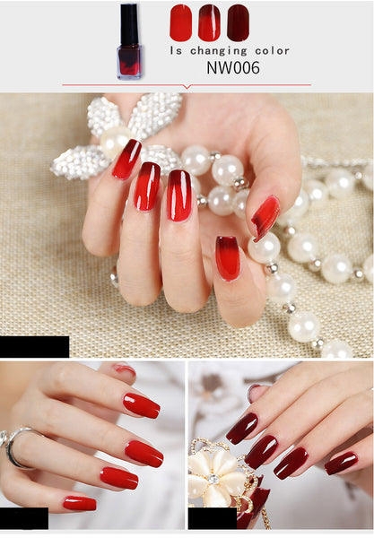 Temperature Change Nail Polish Change Color Temperature Control Health Lasting