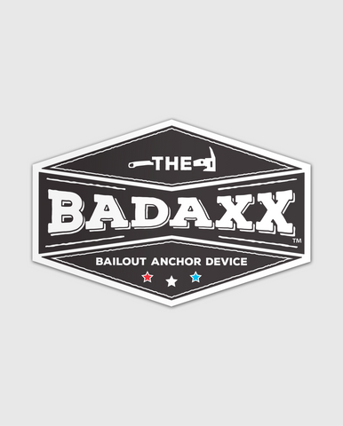 The Badaxx Bailout Anchor Device Decal: Firefighter Decal